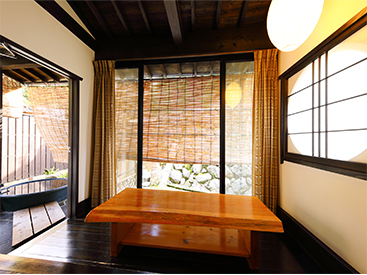 ASAGIRI/YUDUKI. Separate room with open-air bath